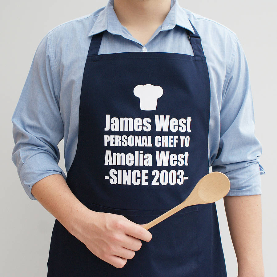 personalised personal chef apron by sparks and daughters ...