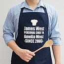 Personalised 'Personal Chef' Apron