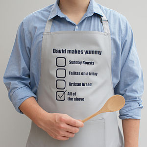 Personalised 'His Favourite Dishes' Apron - kitchen linen