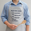 Personalised His Favourite Dishes Apron