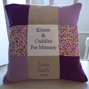 Kisses And Cuddles For Mummy Cushion - living room