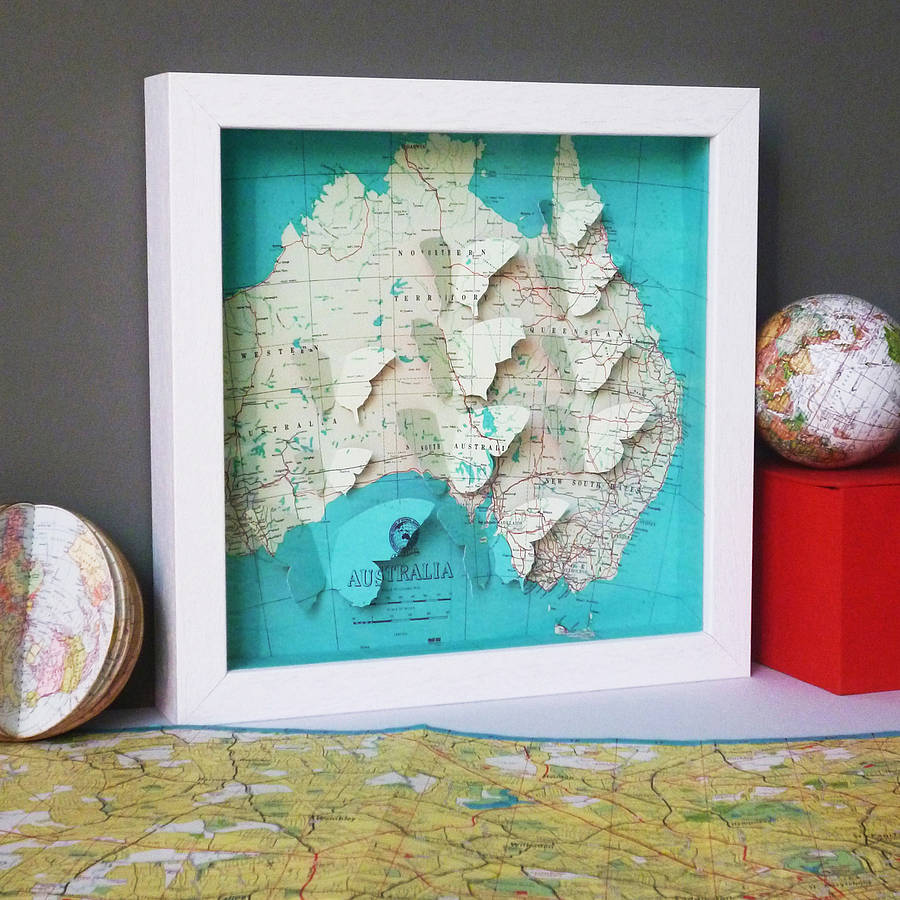 Bespoke Butterfly Map Artwork