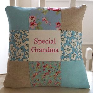 Special Grandma Cushion   Blue And Pink - cushions