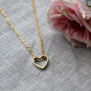 Gold Heart Cut Out Necklace - view all sale items
