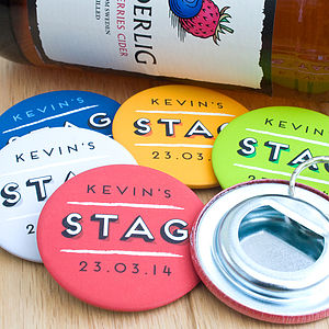 Personalised Stag Party Bottle Openers - drink & barware
