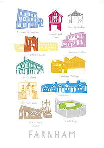 Buildings In Farnham Print A4 - children's pictures & paintings