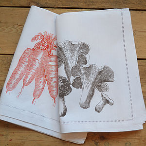 Mushroon, Carrot Napkin - table linen