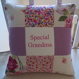 Special Grandma Cushion   Pink And Purple - living room