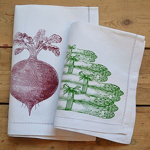 Beetroot Or Asparagus Napkin - kitchen