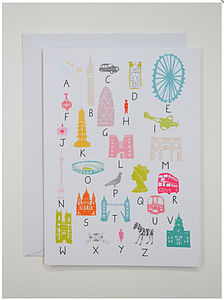 A To Z Of London Greeting Card