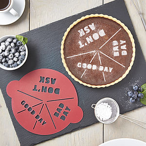 Good Day / Bad Day Cake Stencil - cakes
