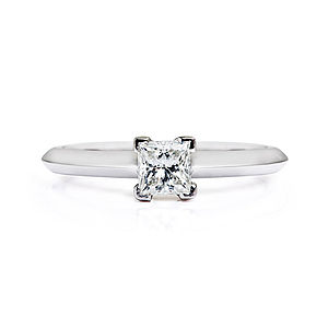 Diana Ethical Fairtrade Princess Engagement Ring - engagement rings