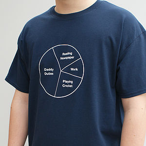 Men's Personalised Pie Chart T Shirt - 30th birthday gifts