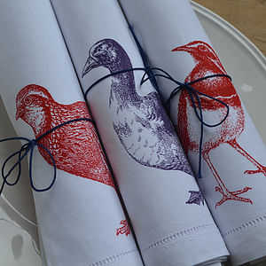 Duck And Birds Napkin