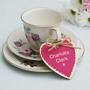 Personalised Heart Place Setting