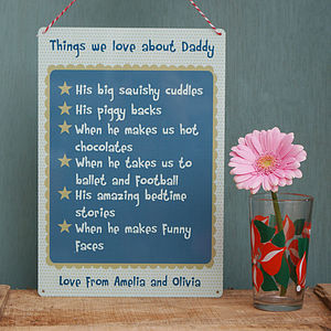 Personalised 'All Of These Things' Metal Sign - home accessories