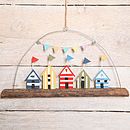 Beach Huts On A Branch Hanging Decoration