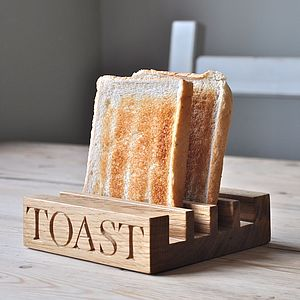 Oak Toast Rack - romantic breakfast