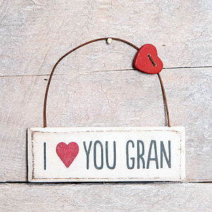 I Love You Gran Hanging Sign - home accessories