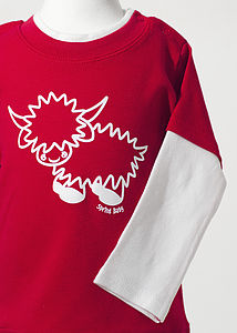 Hamish The Highland Cow T Shirt   Red