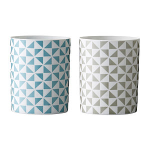 Geometric Patterned Votive - tableware