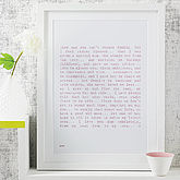 'My Mum' Poem Art Print - home