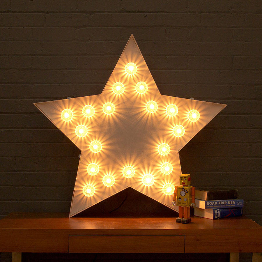 Large Light Up Fairground Star By Goodwin Amp Goodwin
