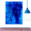 Blue Flow Abstract Painting