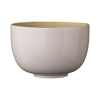 Alberte Pink Lacquered Bamboo Bowl