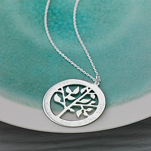 Personalised Tree Of Life Necklace - jewellery