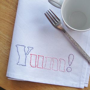 Yum! 100% Cotton Napkin - bed, bath & table linen