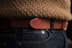 Handmade Leather Worker Belt - belts