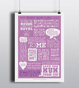 Mum's Mumisms Print - prints & art