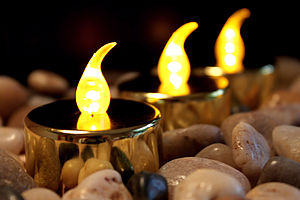 Six LED Tea Lights - lighting