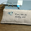 Front of personalised glasses case