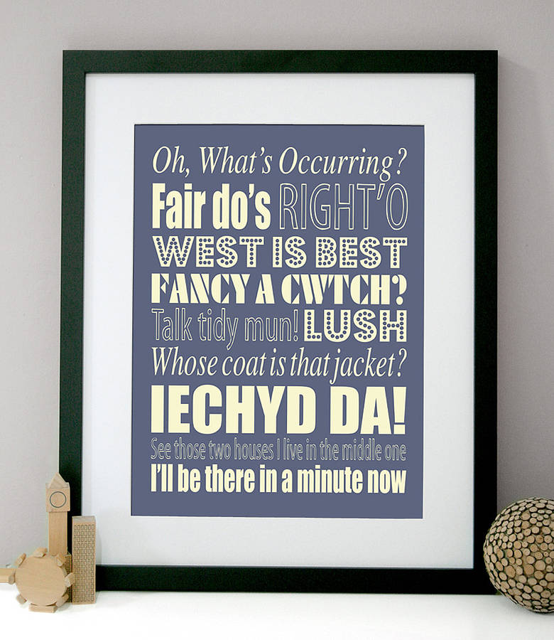 Quotes And Sayings: Personalised Welsh Sayings Print By Modo Creative