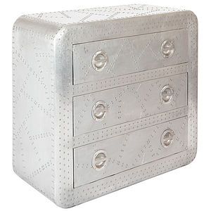 Alairo Altitude Chest Of Three Drawers Gloss Finish - furniture