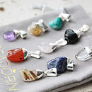 Mini Gemstone Triple Pendant Mix And Match