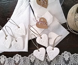 Porcelain Heart Wedding Favours