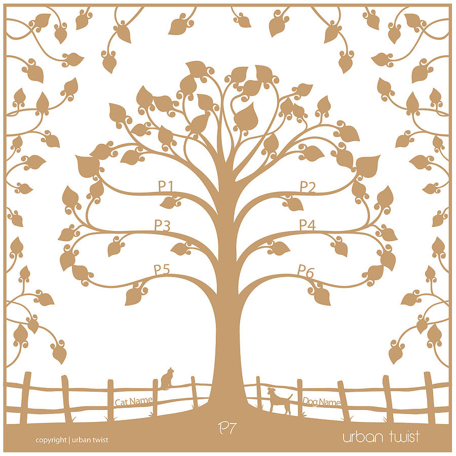 Personalised Traditional Family Tree Papercut By Urban