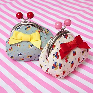 Ditsy Bow Purse - children's accessories