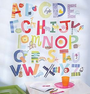 Bright Alphabet Wall Stickers - wall stickers