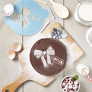Personalised Gift Tag Cake Stencil - kitchen