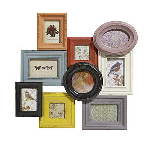Large Multicoloured Picture Frame By Nordal