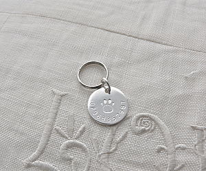 Small Silver Pet Id Tag - pet tags & charms