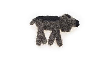 Handmade Felt Terrier Brooch