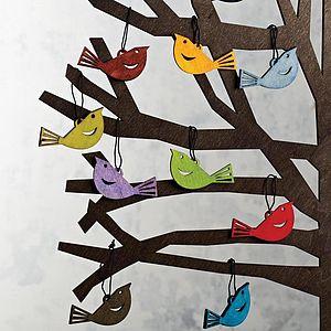 Bird Decorations Set Of 24 - decorative accessories