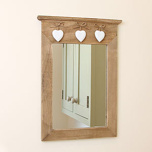 Claudia Wooden Wall Mirror - bedroom