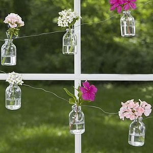 Mini Milk Bottle Garland - garden