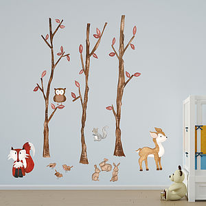 Forest Friends Wall Sticker - living room